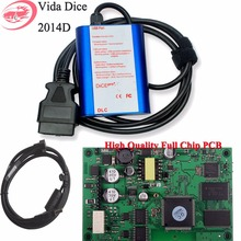 Vida Dice 2014D Full Chip for Volvo Auto Diagnostic Scanner Tool Multi-Language Dice Pro Scanner With High Quality Green Board(China)
