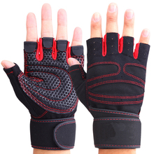 Men Women Half Finger Fitness Gloves Weight Lifting Gloves Protect Wrist Gym Training Fingerless Weightlifting Sport Gloves(China)