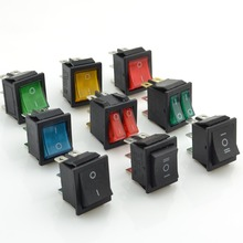 9pcs Rocker Switch Power Switch 6 pins With Light