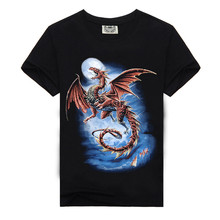 Rocksir Europe and the United States men's short sleeve T-shirt personality customization man 3 d printing T-shirt selling men'(China)