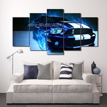 2017 Top Fashion Sale Modern Hd Shelby Mustang Car Picture Painting Wall Art Room Decor Print Canvas Free Shipping/ny-620