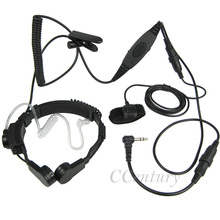 1 Pin Throat Microphone Mic Headset Headphone for Motorla Portable Radio T5428 T5920 T6200 FRS GMRS FR50 FR60 For Cobra MT750