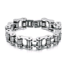 Men Motorcycle Bicycle Chain 316L Stainless Steel Bike Bracelet  Men's Bracelets Bracelets Bangles Fashion Jewelry