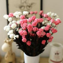 1 Bouquet 15 Heads Fake Flower Rose Head Artificial flower Simulation Rose Fake Silk Flower DIY Home Wedding Decoration