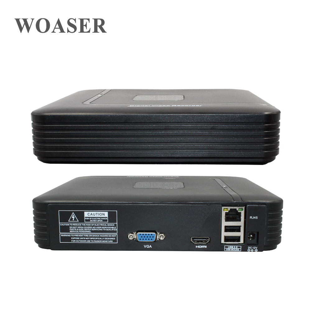 WOASER For IP 2.0MP  Camera Security System XMEye APP 4CH Mini Full HD ONVIF Video Record NVR Standalone Hi3515C 1080P HDMI <br>