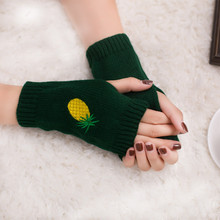 Eldiven Women Girl Knitted Arm Fingerless Warm Winter Gloves Soft Warm Mittens Fitness Luvas de inverno Gloves without fingers(China)
