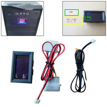 DC 5V Digital Thermostat Heat Cool Temperature Alarm Sensor Meter Controller Fahrenheit Tools Accessories