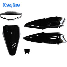 honglue For Honda DIOAF27/28 motorcycle scooter solid color paint full body cover / dark black front cover dark black side cover(China)
