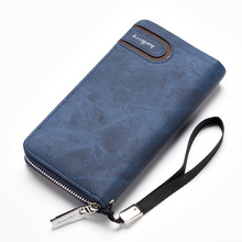 New man wallets pu leather wallet zipper design men money bag removable wristlet purse 2017 card holder for male carteira S1514(China)