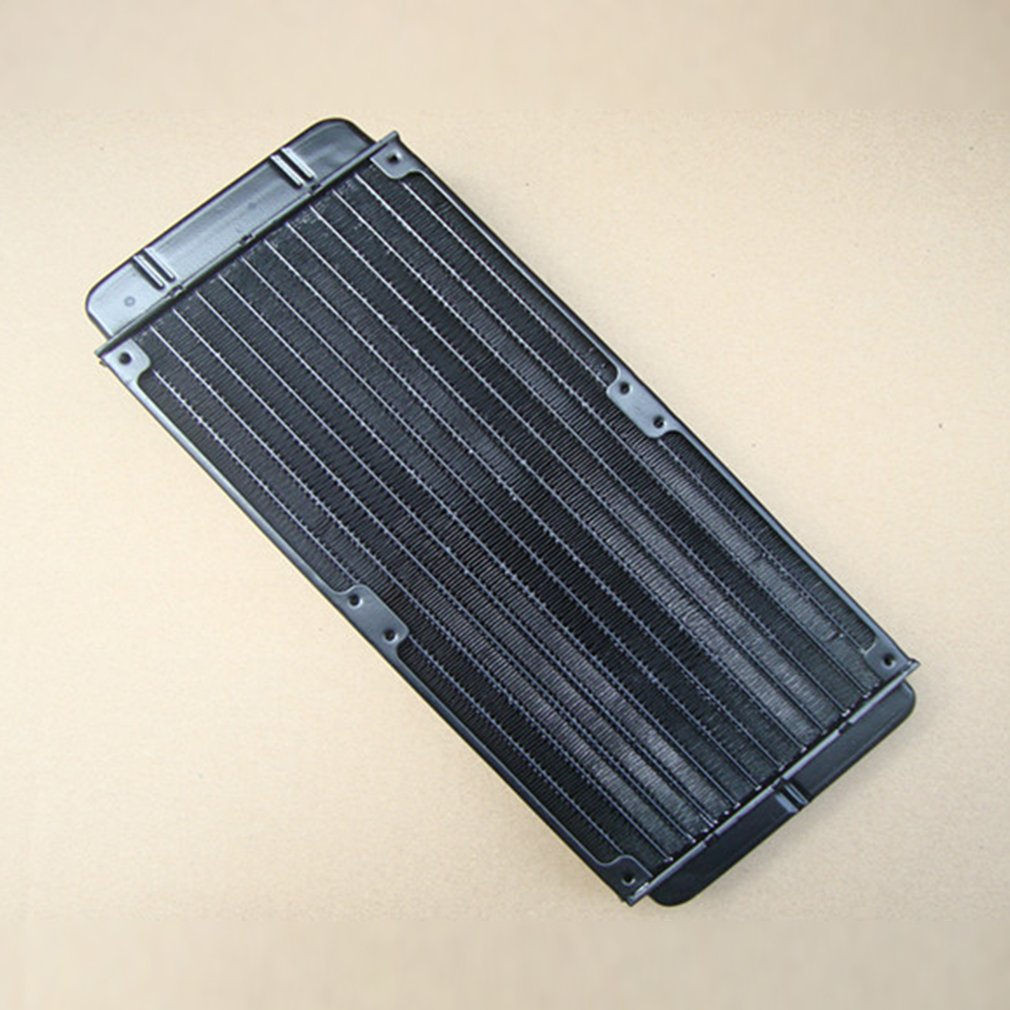 8.28 SALE! Aluminum 240mm Water Cooling cooled Row Heat Exchanger Radiator+Fan for CPU PC<br>