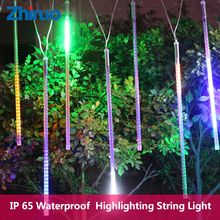 Led String Light Meteor Shower Rain Tubes AC220V Outdoor Light String Waterproof Falling Star Shower Decorative Lights String