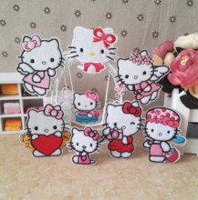 Cartoon Hello Kitty Stickers Children Baby Clothes Patch Clothes Accessories Decoration Decals patches
