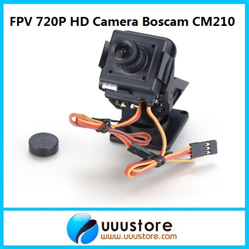 2015 New Real Rc Boscam Cm210 720p Hd Mini Fpv Aio Camera W/nylon Pan Tilt Ptz And Servo for Aircraft Photography Quadcopter<br>