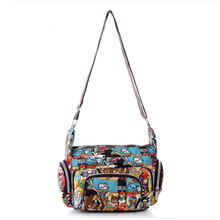 Bags women Messenger fashion print waterproof nylon women's casual shoulder bags Mummy bag size 25 * 22 * 12 cm