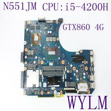 Buy N551JM i5-4200H CPU ASUS N551JK N551JM Motherboard HM86 GTX860M 4G HD4600 N15P-GT-A2 REV2.0 Mainboard 100% full Tested for $235.99 in AliExpress store