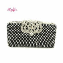 New Brand Women Crown Czech Diamond Rhinestone Clutches Bags Crystal Clutch Wallets Wedding Evening Purse Party Banquet Packages