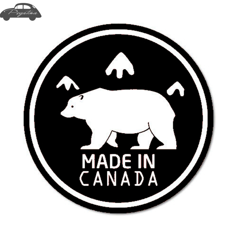 Pegatina Made in Canada Decal Sticker Car Window Vinyl Decal Funny Poster Motorcycle