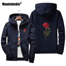 Mountainskin 7XL Men Women Spring Jackets Embroidery Rose Male Coats Casual Hooded Jacket Windproof Coat Brand Clothing SA416(China)