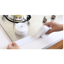 3.2m White PVC Dustproof Waterproof Tapes Kitchen Bathroom Sink DIY Tapes Production Stickers Home Kitchen Bathroom Decoration