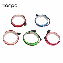 New Arrivals 5 Colorful 1m EL tape Flexible Neon Rope Light Glow EL Wire Cable waterproof led strip light 3V Ribbon Decor Party