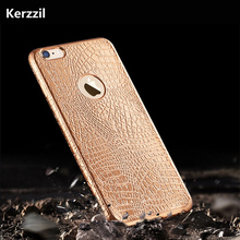 Kerzzil Luxury Crocodile Snake Print Plating Case For iPhone 7 6 6s Plus Ultra Thin Soft Back Cover Phone Case For iPhone 6 7 6s(China)