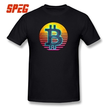 Buy Tees Funny Retro Cryptocyrrency Lover Bitcoin Miner Gift Large Size Men Short Sleeve 100% Cotton T Shirt T-Shirt Printing O Neck for $11.70 in AliExpress store
