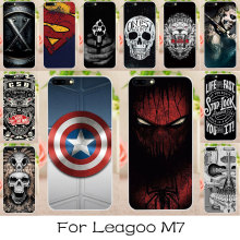 AKABEILA Silicone Phone Cover Case For Leagoo M7 Soft TPU Painted Cases Back Covers For Funda Leagoo M7 Spider-Man Superman Bags(China)