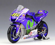 Collectible 1:18 YAMAHA No.46 Motorcycle Model Valentino ROSSI 2015 Moto GP YZR M1 Diecast Moto Kids Toys Collection Gifts(China)