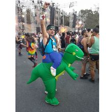 Fast delivery! send DHL or EMS logistics adult inflatable dinosaur costume funny halloween cosplay mascot costume