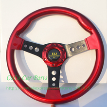Free Shipping LYJ Motorsport Steering wheel Racing Car Steering wheel Diameter 335mm Dish 4.5cm Game Steering Wheel(China)