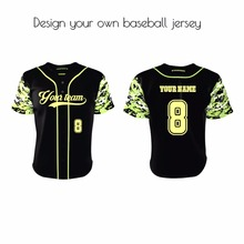 Hot selling olive camo print sublimation baseball jersey with full buttons team wear baseball jersey
