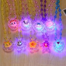Christmas Toy Flashing Necklace Soft Rubber Led Toys Cartoon Funny Light Up Toys Party Celebration Gifts Kids Children YH337