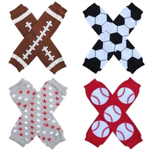 4 pairs/lot Kids boys Leg Warmers baby knee pads  Grey Star Basketball Footbal Baseball legs Warms  baby crawling knee Pads