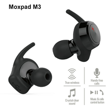 Moxpad M3 Original True Wireless Double Ear Headphones Mini Bluetooth Sports Earphones Hands Free Music Phone Calls Headset Hot