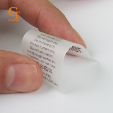 custom Luxuary waterproof swimwear labels, TPU soft touching skin underwear wash labels transparent printed garment PVC labels(China)