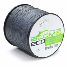 Booms Fishing ECO 100% UHMWPE Braided Fishing Line 500m Test 6LB-100LB,Green Gray Yellow(China)