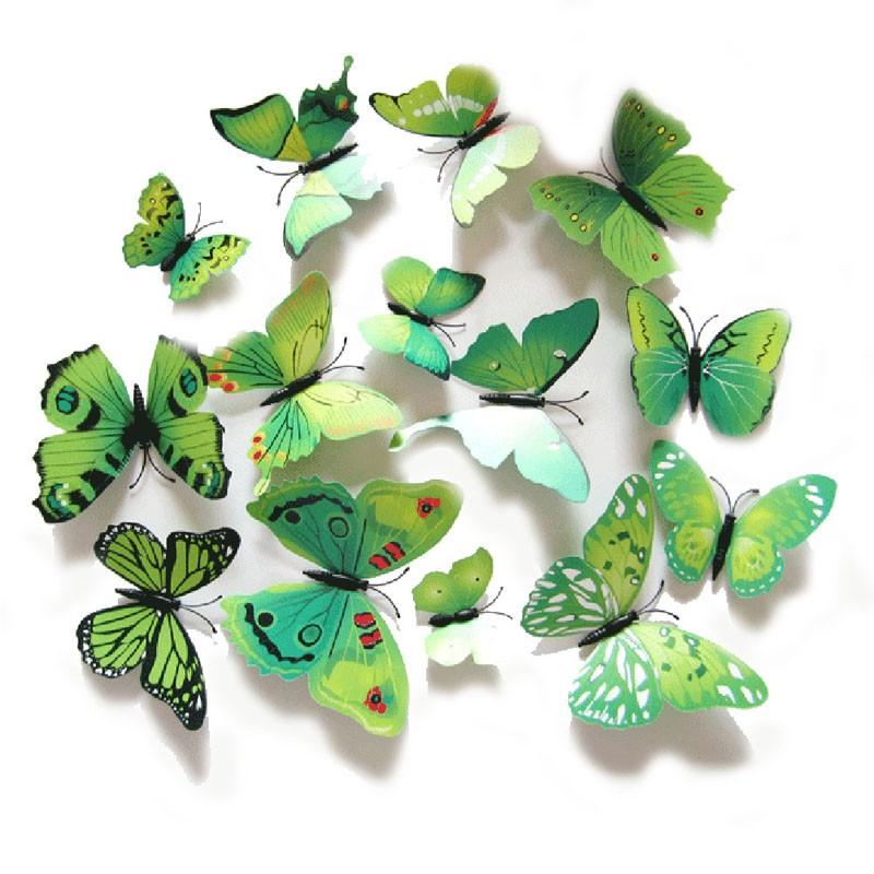 3d бабочки на стену своими руками 399