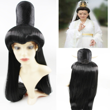 black Avalokitesvara cosplay wig Avalokitesvara hair wig chinese ancient dynasty wig halloween cosplay ancient warrior cosplay