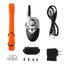 Waterproof Pet Dog Training Collar Remote 1000M Pet Dogs Electric Shock Training Collar Rechargeable LCD Remote for 1 Or 2 Dogs(China)