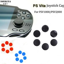 6 in1 Protective Button Pad Kit Silicone Analog D-Pad Joystick Cap Cover for Sony PS Vita PSV Console