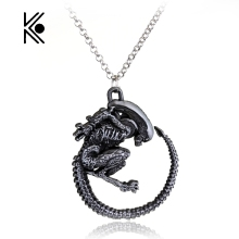 Warrior Alien Metal Goth Has Giger Cool Pendant Alloy Necklace Gift For Fans Movie Jewelry Free Shipping Factory Direct Sale(China)