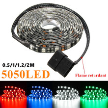 50/100/120/200cm 5050 LED Waterproof Flexible Strip Background Light PC Computer Case Adhesive Strip Light DC12V