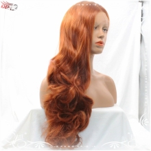 Sexy Auburn Color Long Body Loose Wave Lace Front Wig for Hot Women Charming Synthetic Lace Front Body Wave Heat Resistant Wig