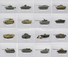 1:72 World War II / modern plastic assemble  tank model toys 10pcs/set