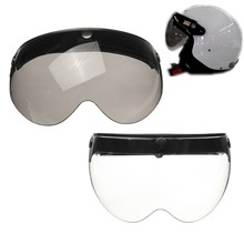 Universal Front Flip Up Visor Wind Shield Lens For Open Face Motorcycle Helmets