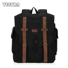 New 2017 Design Canvas Bag Vintage Rucksack Women Laptop Backpack Female School Backpack for Girls Leisure Travel Shoulders Bags(China)