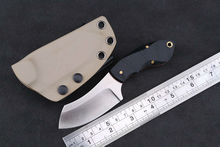 JUFULE Hunting straight Stainless Steel Tactical Fixed Blade Knife KYDEX Sheath outdoor survival EDC tool camping kitchen knives