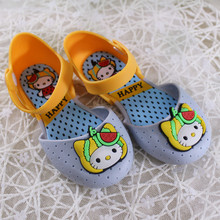 2017 Summer new Children Cartoon Cat Sandals Girls Hello Kitty Sandals PVC Jelly Shoes Non-Slip Wear-Resistant Baby Girl Sandals