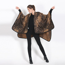 Autumn New Sexy Women Knitted Poncho Loose Pullover Short Sweater leopard Print Women Capes and Ponchos luxury brand shawl YG100