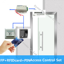 500 Fingerprint Capacity FP RFIDcard PINDoor Access Control Kit Home Office Hotel Door Keypad Access Control Security System